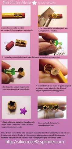 This is a good idea. I have often wonder what I could use to make a miniature cutter. #Miniature #PolymerClayCutter: