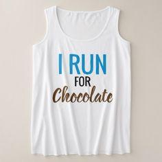 #I Run For Chocolate Funny Women's Running Plus Size Tank Top - cyo customize design idea do it yourself