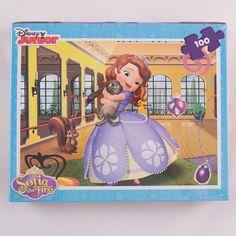 Servieta cu puzzle Sofia cu licenta:   puzzle 100 piese 35,5x48 cm 3 foi A4 de colorat 4 creioane colorate Puzzles, Disney Characters, Fictional Characters, Disney Princess, Art, Character, Art Background, Puzzle, Kunst