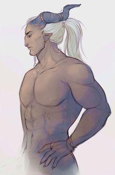 artemorte.tumblr: for science. #asasel adaar #dragon age inquisition #qunari…