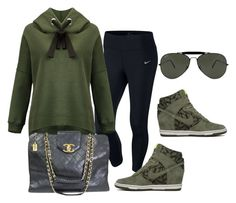 """""""af"""" by ace-finn-nyc on Polyvore featuring NIKE, Chanel and Ray-Ban"""