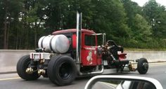 Crazy rat rod diesel semi truck