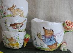 Hedgehog cup for Grace by Julie Whitmore Pottery, via Flickr