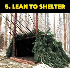 Lean To Shelter. The TOP 10 Survival & Bushcraft Shelters to keep you alive during an emergency! Survival Shelter, Survival Food, Wilderness Survival, Outdoor Survival, Survival Prepping, Survival Skills, Survival Weapons, Survival Hacks, Apocalypse Survival