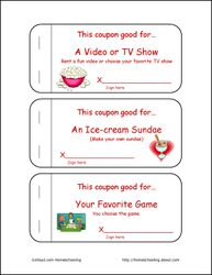 valentines day printables valentines day coupon book for kids