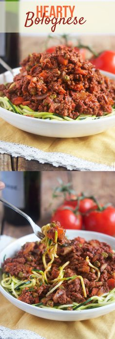 Perfect and simple Hearty Bolognese sauce! Healthy Chicken Recipes, Healthy Cooking, Beef Recipes, Whole Food Recipes, Healthy Eating, Cooking Recipes, Tasty Meals, Delicious Recipes, Pasta With Meat Sauce
