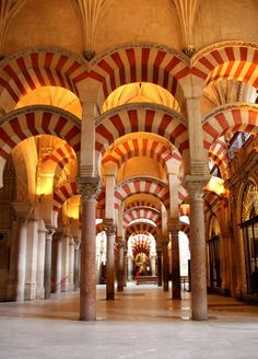 56. Arches, Prayer Hall, Great Mosque, Cordoba, Spain. (Image set, 4/5)