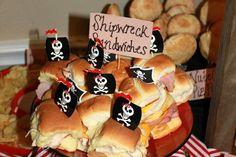 Pirate birthday party. Maybe do shipwreck lasagna.