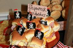 Pirate birthday party. Maybe do shipwreck lasagna.