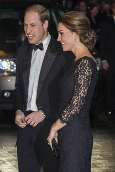 Kate Middleton wore a pretty updo!