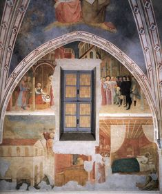 MASOLINO da Panicale Scenes from the Life of St Ambrose (right wall) 1425-31 Fresco Castiglione Chapel, San Clemente, Rome