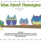 Wise About Homonyms