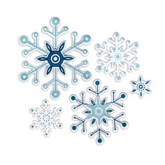 Sizzix.co.uk - Sizzix Framelits Die Set 8PK w/Stamps - Snowflakes #2