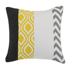 @Overstock - Grey, White and Yellow Vertical Striped 17-inch Throw Pillow - These 17-inch x 17-inch decorative pillows will create a sense of comfort in your home. They will go with any decor for years of enjoyment.  http://www.overstock.com/Home-Garden/Grey-White-and-Yellow-Vertical-Striped-17-inch-Throw-Pillow/9184101/product.html?CID=214117 CAD              53.24