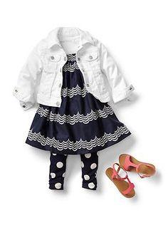 Baby Clothing: Toddler Girl Clothing: Dresses + Leggings Dresses | Gap