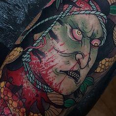 Close-up on today #tattoo #tattoos #tattooworkers #tattoosnob #tattoolifemagazine #triplesixstudios #neojapanese #uktta #art #artist #draw #drawing #japanese #japanesetattoos #namakubi #namakubitattoo #triplesix #sunderland #northeast #teamego #elliottwells #thebesttattooartists #irezumicollective #irezumi #egomachines #egor12 #fusioninks #fusionink all done with the ego r12 machine and fusion inks