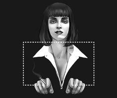 Mia Wallace Pulp Fiction insp