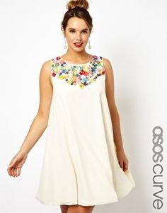 ASOS CURVE Exclusive Salon Swing Dress With ...