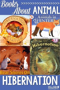 Animal Hibernation read aloud suggestions. Great for kindergarten and first grade.