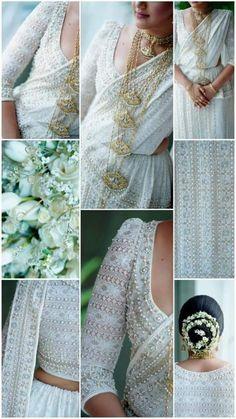 Sari Wedding Dresses, Bridal Sari, Elegant Wedding Dress, Saree Wedding, Bridal Dresses, Bridal Dress Design, Bridal Blouse Designs, Bridesmaid Saree, Bridesmaids