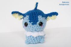 Vaporeon - Pokemon- Amigurumi - Kawaii Plush - Pupazzi - Morbido - Uncinetto - Crochet di SakumoAmigurumi su Etsy