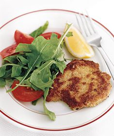 Parmesan Pork Cutlets|Dip thin cutlets into egg, bread crumbs, and grated Parmesan and pan-fry until golden brown for a quick and delicious dinner.