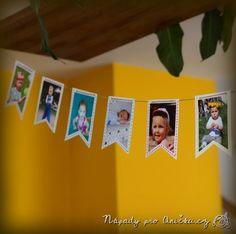Narozeninová girlanda z fotek - Birthday garland from photos Birthday Garland, Show Photos, Graduation, Photo Wall, Album, Frame, Anton, Birthday Photos, Picture Frame