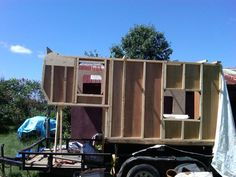 Slide in camper/tow rig build Slide In Camper, Tiny Homes, Campers, Rv, Tent, Shed, Truck, Outdoor Structures, Building