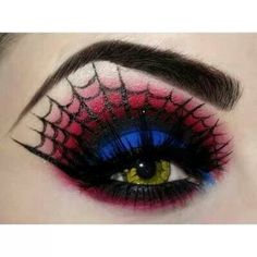 Spidey eye makeup
