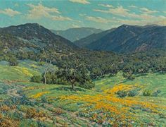 Granville Redmond (American, 1871-1935), Spring in Southern California, 1931. Oil on canvas, 30 x 40 in (75 x 100 cm).