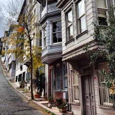Istanbul street Wooden houses