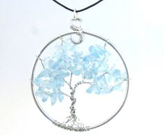 Items similar to Light Blue Glass and Silver Tree of Life Pendant Necklace or Suncatcher on Etsy Tree Of Life Pendant, Suncatchers, Light Blue, Etsy Shop, Pendant Necklace, Drop Earrings, Glass, Blog, Silver