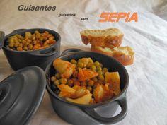 Cocinando en Mislares: GUISANTES GUISADOS con SEPIA