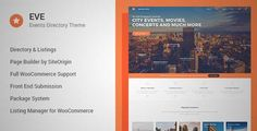 Download and review of EVE - Events Directory WordPress Theme, one of the best Themeforest Corporative themes {Download & review at|Review and download at} {|-> }http://best-wordpress-theme.net/eve-events-directory-download-review/