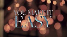 Diggin it!! Would love to see him in concert again! Jason Aldean - You Make It Easy (Lyric Video)
