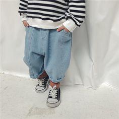 8dd62bed70b US $14.95 12% OFF|Aliexpress.com: Koop Kinderen Kleding Meisje Broek Baby  Jongens Trainingspakken Mode Kinderen Jeans Broek Harembroek Peuter Casual  Denim ...