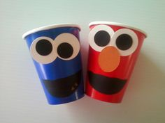 SESAME STREET Paper Cups (Set of 6) -- For everything Elmo and Cookie Monster. $5.00, via Etsy.
