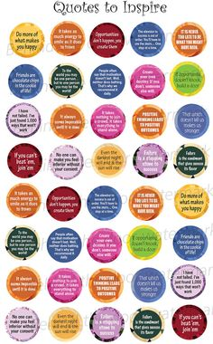 Quotes that Inspire 1 inch circle/25mm Bottle by BehindTheDoor