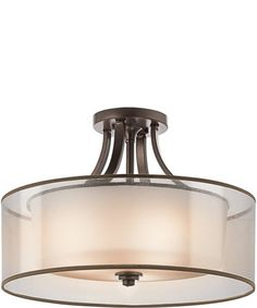 Kichler lacey 20 wide antique pewter ceiling light fixture 20 inchw lacey 4 light semi flush fixture antique pewter aloadofball Image collections