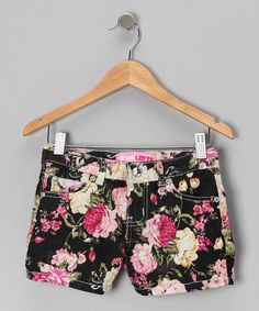 Take a look at this Dark Floral Shorts on zulily today!
