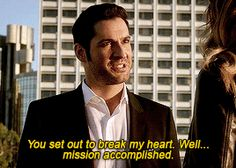 Lucifer - Gif Lucifer Gif, Tom Ellis Lucifer, Eternal Flame, Morning Star, Tv Show Quotes, My Heart Is Breaking, Movies Showing, Best Tv, Cos