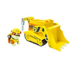 Paw Patrol - Rubble's Digg'n Bulldozer, Vehicle and Figure: Amazon.co.uk: Toys & Games
