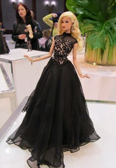 Barbie with black dresses