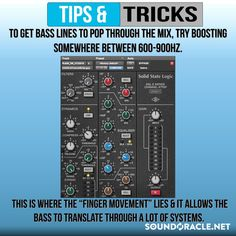 """To get Bass Lines to Pop through the Mix, Try boosting somewhere between This is where the """"finger movement"""" lies & it allows the bass to translate through a lot of systems. Recording Studio Setup, Music Studio Room, Experimental Music, Music Writing, Better Music, Recorder Music, Music Theory, Music Mix, Music Lessons"""