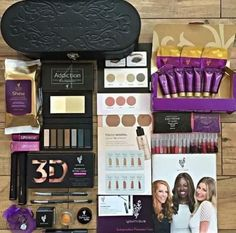 Younique presenter kit for $99 ($211 value)  •1 Moodstruck 3D Fiber Lashes+ •1 Moodstruck Addiction Shadow Palette (palette will vary) •Angled Shadow / Sponge Brush •Younique Royalty Shine Cleansing Cloths •Splurge Cream Shadow (Extravagant) •Cream Shadow Brush •Splash Liquid Lipstick (Sentimental) •Lip Bonbons Tinted Lip Balm (Red Velvet Cake) •Royalty Sampler •Foundation Sampler •Blush Sampler •Bronzer Sampler •Pigment Sampler •Lip Gloss Sampler (Set of 10) And more!