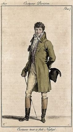 Theoutline of the men's clothing witnessed change in a similar way. By the mid of1820s, coats were featured with wide shoulders with wheezing sleeves, a taperedwaist, and full skirts. Trousers were considered as a smart day outfit whilebreeches were still worn at courts and in countryside.