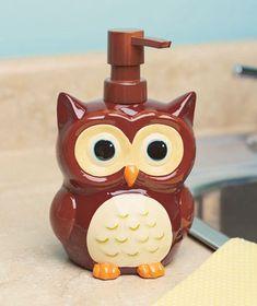 Owl Soap Dispenser Pinned by www.myowlbarn.com