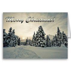 Winter Magic Greeting Card #card #winter #holiday #trees #Christmas #snow