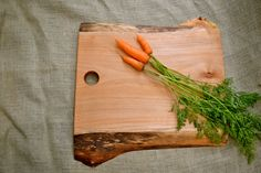 Rustic Wood Cutting Board, Natural Edge Salvaged Maple 284