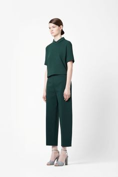 Cropped wide-leg trousers cos